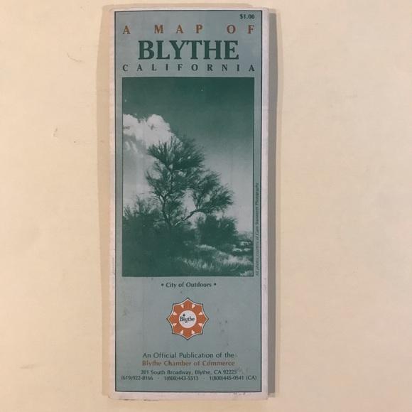 VINTAGE 1990s Blythe, California Street Map